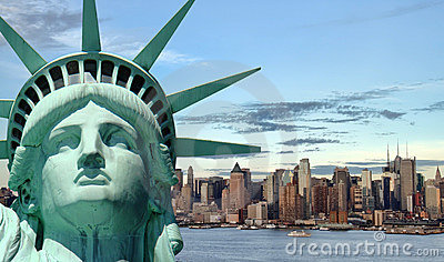 Beautiful tourism travel concept for new york city