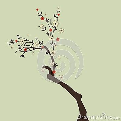 Beautiful tree with flowers