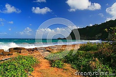 Beautiful tropical beach in Aguadilla, Puerto Rico