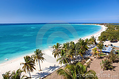 Beautiful tropical  beach at the Caribbean island