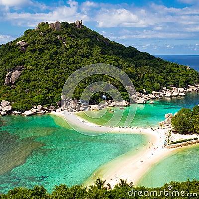 Beautiful tropical beach. Koh Phangan island