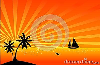 Beautiful tropical scene