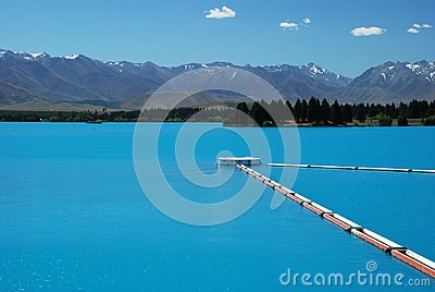 A beautiful turquoise lake