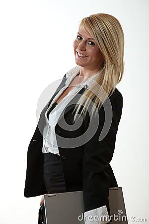 Beautiful twenties blonde businesswoman