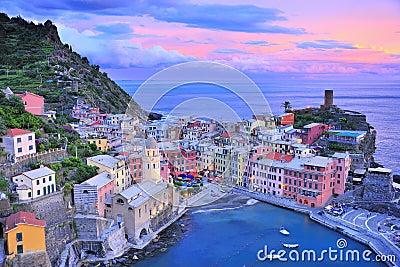 Beautiful twilight with mediterranean sea