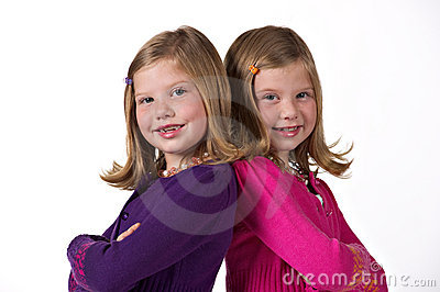 Beautiful twin girls