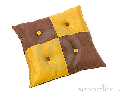Beautiful cushion pillow isolated