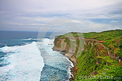 Beautiful Uluwatu cliff at Bali