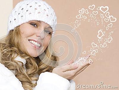 Beautiful valentine woman