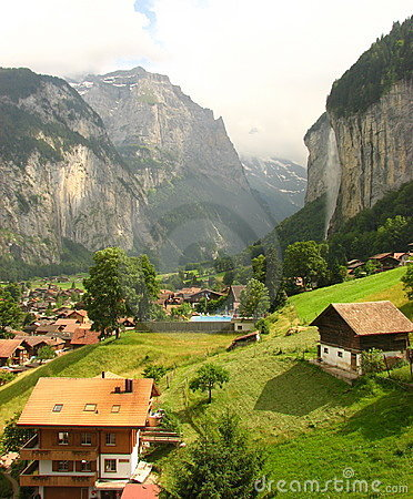 A beautiful valley: Lauterbrunnen, Switzerland