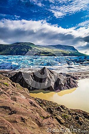 Free Beautiful Vatnajokull Glacier And Mountains, Iceland Stock Photo - 59984000