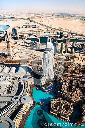 Beautiful view of the city of Dubai