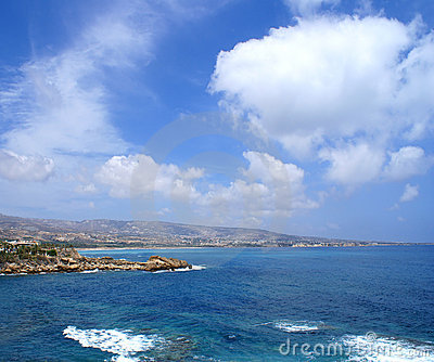Beautiful view of the Cyprus island