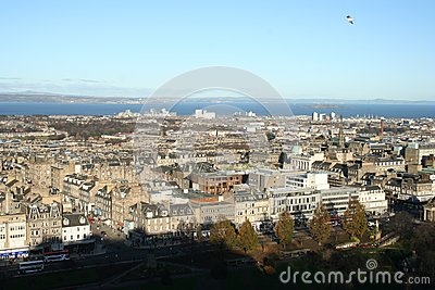 Beautiful view from Edinburgh Castle Parapet
