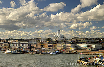 Beautiful view of Helsinki