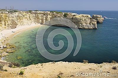 Beautiful view of an idyllic wild beach