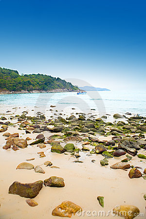 Beautiful view of Karon beach, Phuket