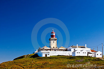 Beautiful view of lighthouse in Cabo da Roca