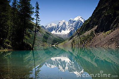 Beautiful view at the mountain lake