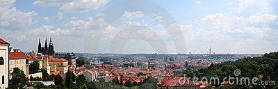 Beautiful view at Prague