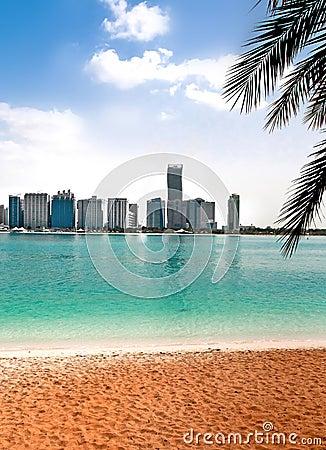 Beautiful view of the sandy beach