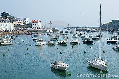Beautiful view of Sauzon, Belle-Ile-en-Mer