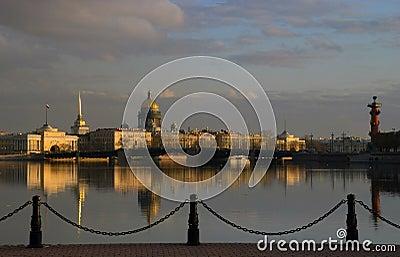 Beautiful view of St Petersburg
