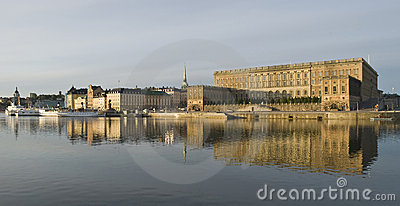 Beautiful view of Stockholm with Royal Palace
