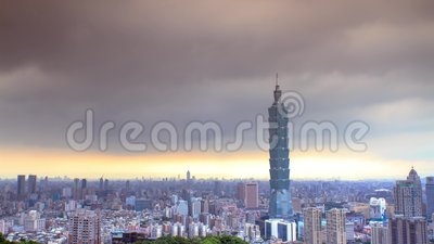 Beautiful view of Taipei city, Taiwan (time lapse). For adv or others purpose use stock video