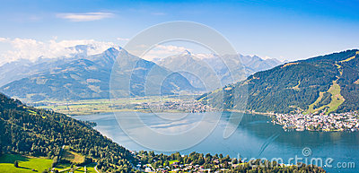 Beautiful view of Zell am See, Austria