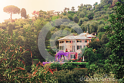 Beautiful villa Stock Photo