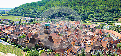 Beautiful village in Alsace - France