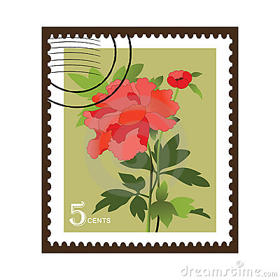 Beautiful Vinatge Flower Stamp