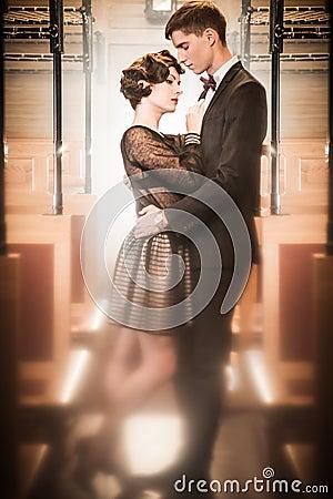 Beautiful vintage couple