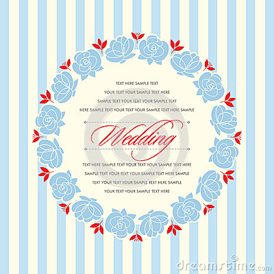 Beautiful vintage floral invitation card. Vector illustration Vector Illustration