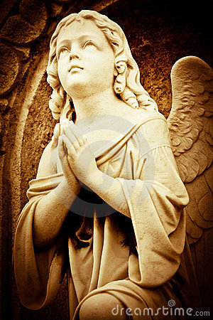 Free Beautiful Vintage Image Of A Praying Angel Stock Photos - 22830123