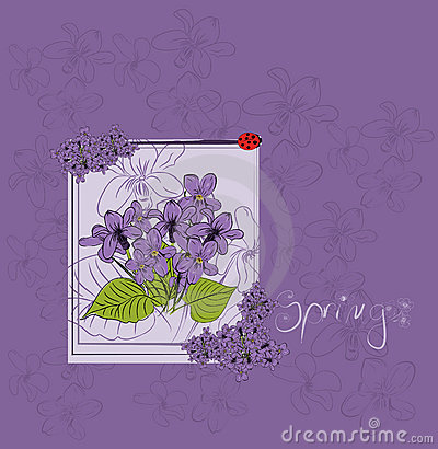 Beautiful violet card