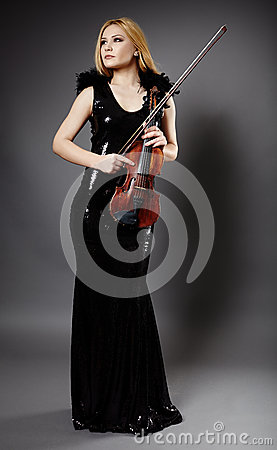Beautiful violin player