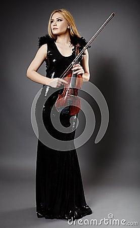 Beautiful violin player