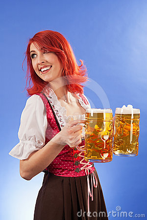 Beautiful wait staff at Oktoberfest