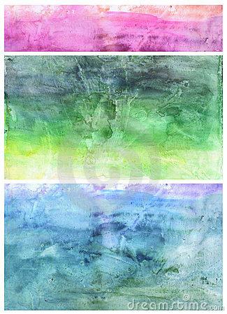 Beautiful watercolor background in soft green