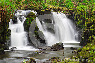 Beautiful waterfall of Clare Glens