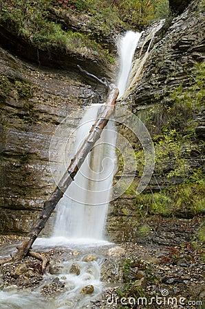 Beautiful waterfall  in Crimea