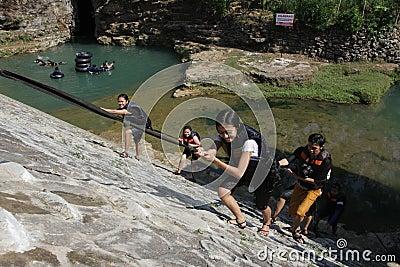 Beautiful waterfall Editorial Stock Photo
