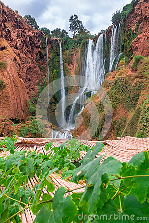 Free Beautiful Waterfall In Ouzoud, Azilal, Morocco. Grand Atlas Stock Images - 72827384