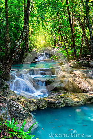 Free Beautiful Waterfall In Thailand Tropical Forest Stock Photos - 62408143