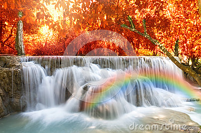 beautiful soft waterfall in - photo #24