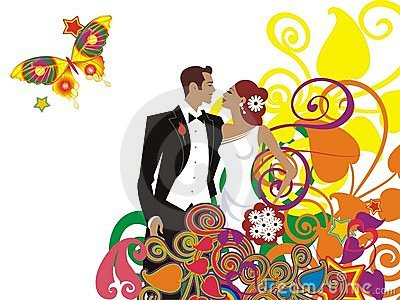 Beautiful wedding couple card