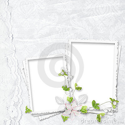Beautiful white frame for two photos