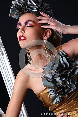 Beautiful white woman in diva image